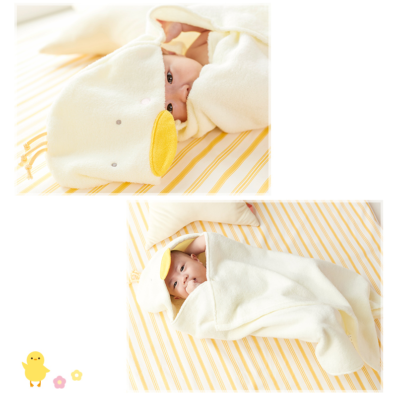 犬印本舗 INUJIRUSHI Baby フード付き バスタオル 泉州産やわらか無撚糸 泉州タオル バスポンチョ 綿100% コットン100% ベビーバスローブ