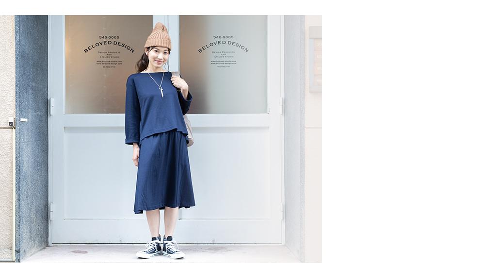 マタニティ トップス+スカート セットアップ M~L