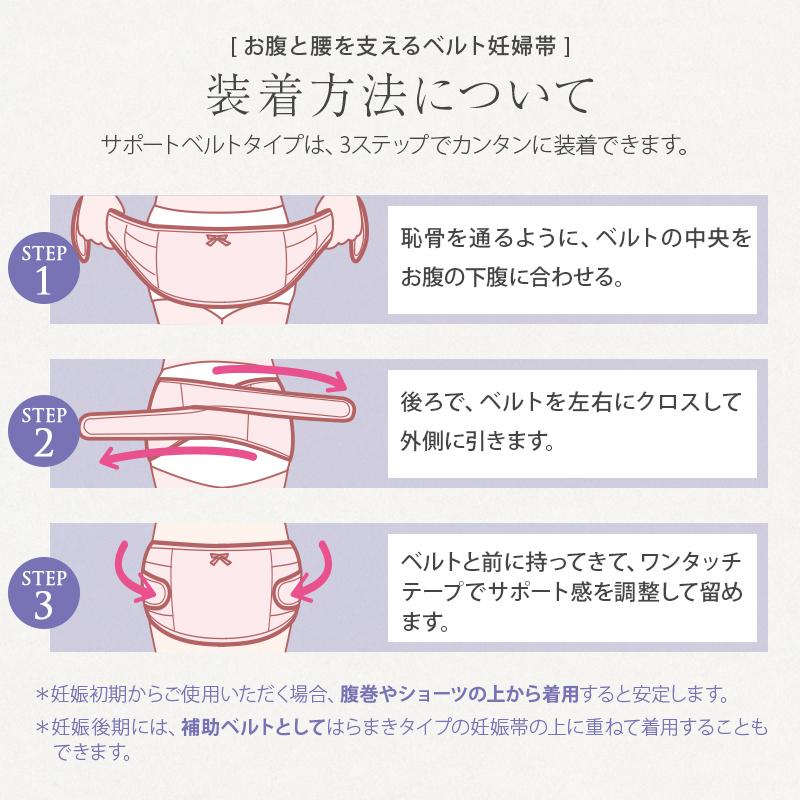 犬印本舗 妊婦帯 お腹と腰を支える サポートベルト【妊娠中期~後期】腹帯 戌の日