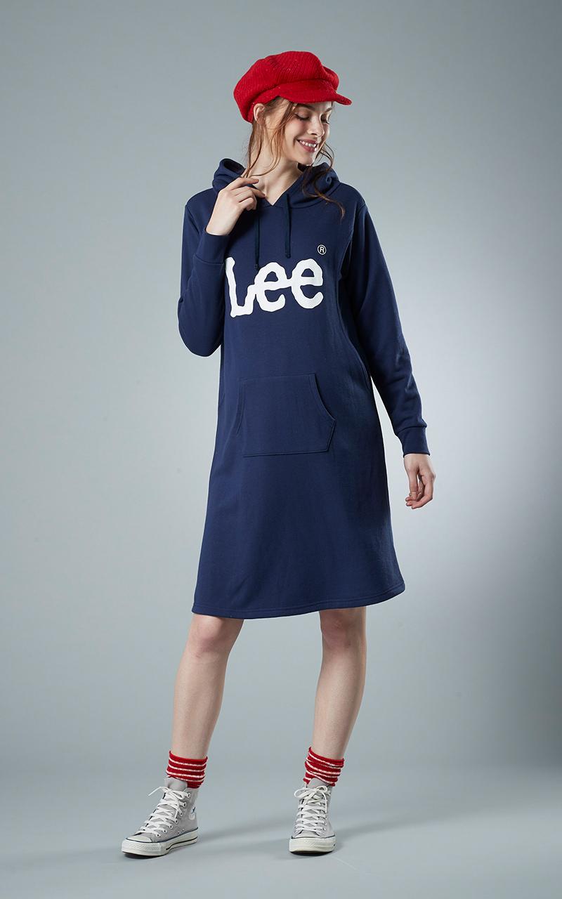 ◎LEE019 Lee 授乳口付ロゴプリントワンピース