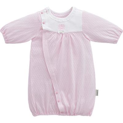 □B252000 INUJIRUSHI Baby ドレス&カバーオール スムース 天竺 ジャカード
