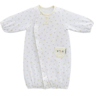 ◎B252002 INUJIRUSHI Baby ドレス&カバーオール 天竺 総柄