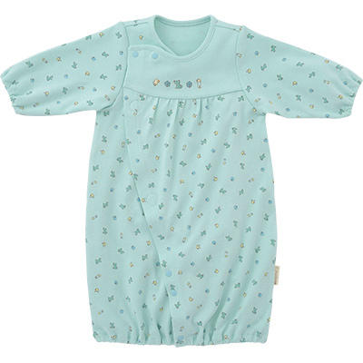 ◎B246002 INUJIRUSHI Baby ドレス&カバーオール スムース 総柄