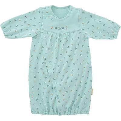 □B246002 INUJIRUSHI Baby ドレス&カバーオール スムース 総柄