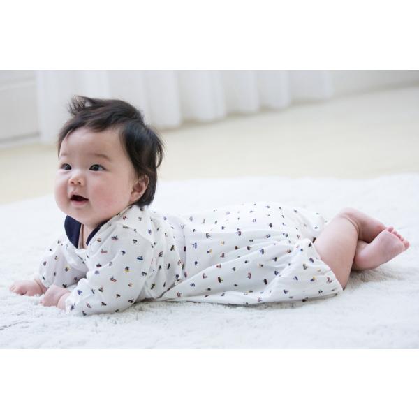 □B262000 INUJIRUSHI Baby ドレス&カバーオール 天竺 総柄