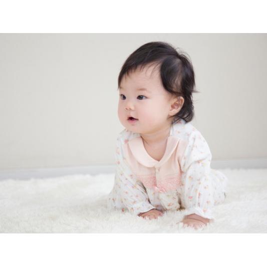 ◎B262001 INUJIRUSHI Baby ドレス&カバーオール 天竺 総柄