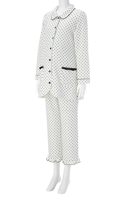 ◎254-8704 fairy NIGTY 飾りリボンポケットパジャマ(フロント授乳タイプ)