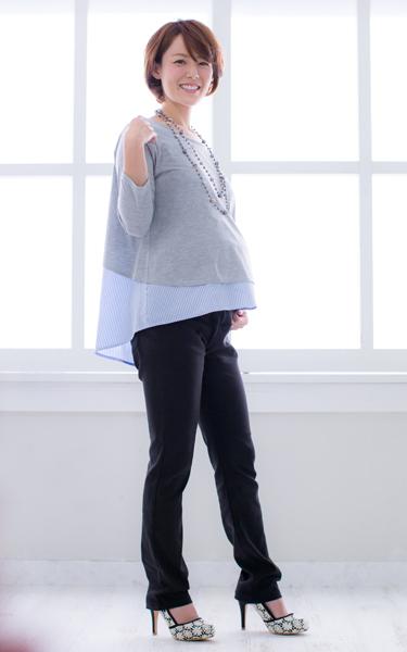 ◎271-8311R fairy なが~く使えるマタニティパンツ(スキニー)産前~産後