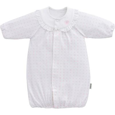 ◎B256001 INUJIRUSHI Baby ドレス&カバーオール スムース 総柄