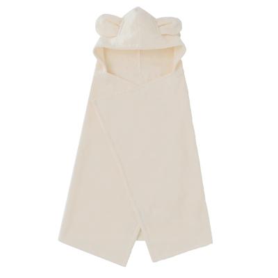 ◎B272020 INUJIRUSHI Baby フード付きバスタオル オーガニックコットン